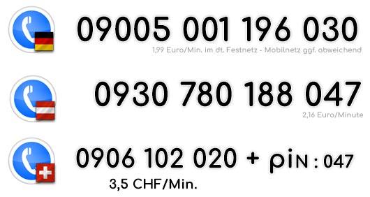 Telefonsex Nummer von Russichen Frauen für Deutschland, Österreich und Anrufer aus der Schweiz