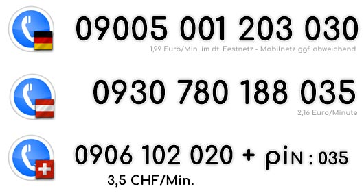 Die Telefonsex Nummer für heiße Minuten mit einer edlen Sexbombe für Deutschland, Österreich und die Schweiz