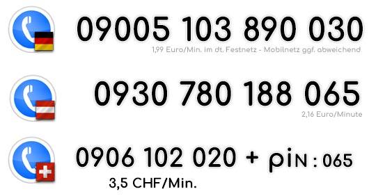 Heißblütige Telefonsex Nummern von Türkinnen für Deutschland Österreich und die Schweiz